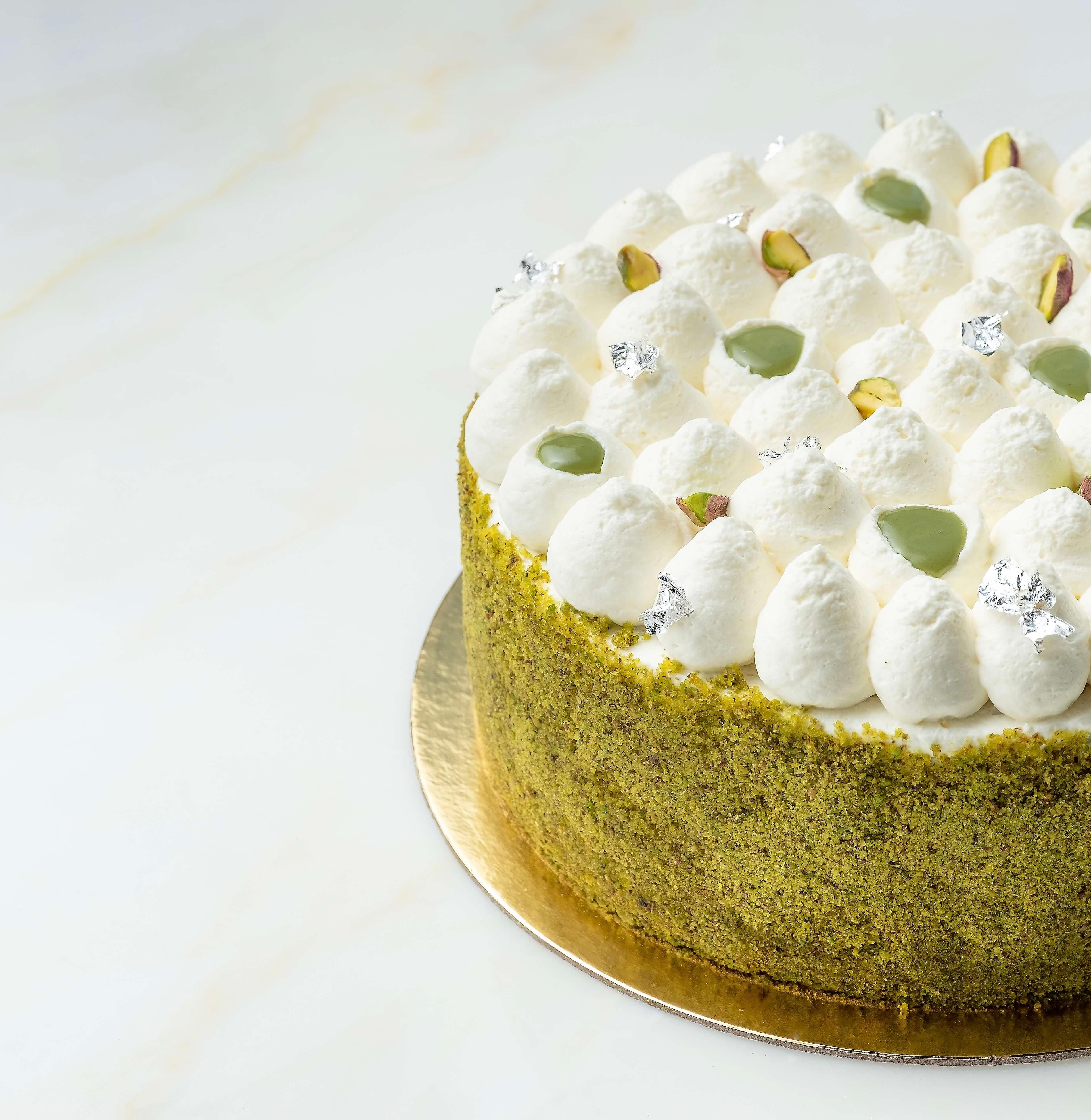 Pistachio Rahash cake